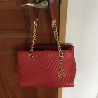 Dropped price Authentic Michael Khors Red Bag