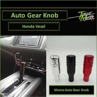 Honda Vezel Gear Knob . Auto Gear Knob with Button . Momo Design . Black Red Silver .