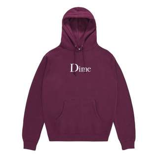 Dime Classic Hoodie - Burgundy (size S, M, L)