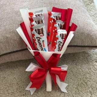 Valentine's Day Kinder chocolate bouquet