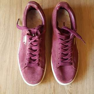 FLASH SALE Authentic Puma Suede Maroon