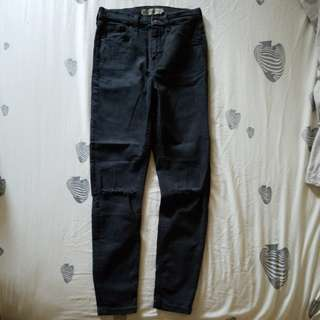 Topshop Jamie Ripped Jeans (W28 L30)