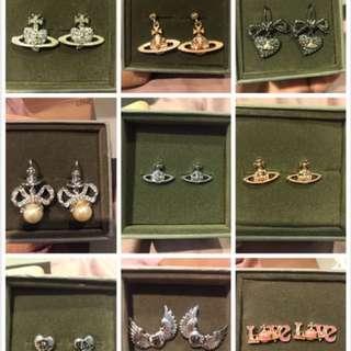 Viviennewestwood earring 💕💞格仔舖清貨