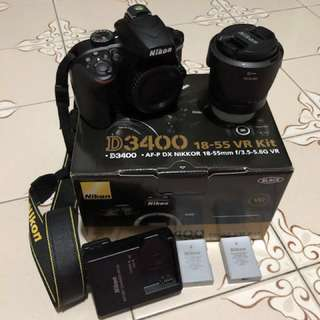 Nikon D3400、Nikkor 35mm 1.8G、Nikkor 18-105mm、get all only $1000‼️