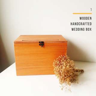 Handcrafted Wooden Wedding Ang Bao & Cards Box