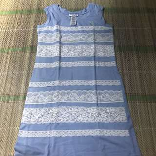 LIGHT BLUE LACEY DRESS