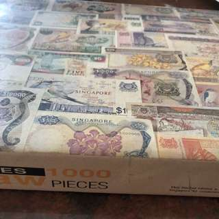 Singapore currency jigsaw puzzles 1000 pieces
