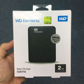 WD Elements 2TB external portable Harddisk 2.5 in (a)