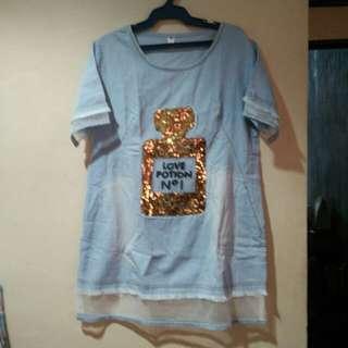 Long top/mini dress