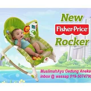 FISHER PRICE RAINFOREST FRIENDS INFANT-TO-TODDLER ROCKER