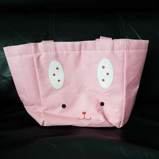 Cute cat and rabbit thermal lunch bag