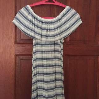 Off shoulder striped top