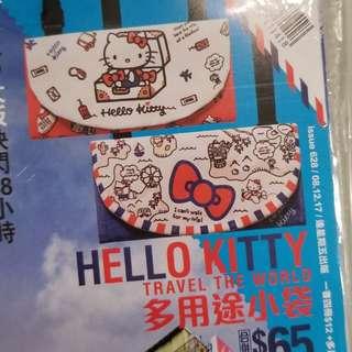 Hello Kitty 斜咩袋仔,藍紅各一(冇拆袋)