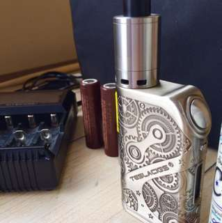 Tesla Nano 120+pharaoh atomizer+4 batteries+bag+d4nitecore charger+