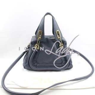 (Sale Promotion) CHLOE Paraty 深藍色小牛皮 (小號) 手挽袋 肩背袋 手袋