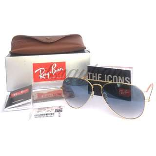 Original Ray Ban Aviator Blue Gradient RB3026