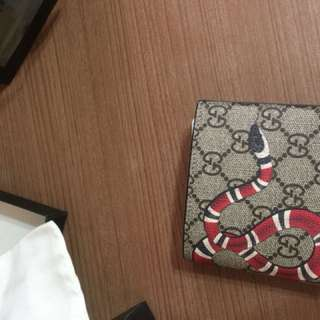 Gucci snake wallet brand new
