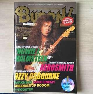 Burrn - BN heavy metal magazine in Japanese Jan 2006 issue