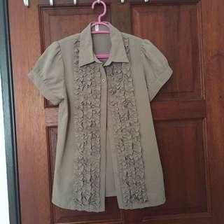 Brown work blouse