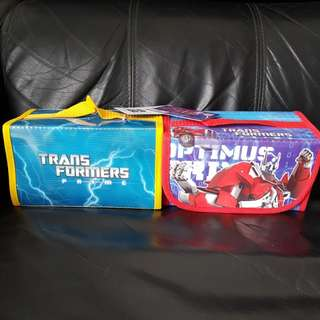 Transformer Stationery pouch, bags, magic pens, crayons