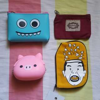 Assorted pouches