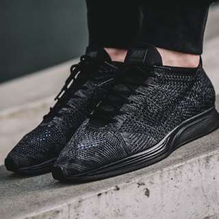 All Black Nike Flyknit Racers