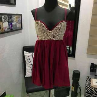 "REPRICED!! ""Imprint"" beaded bustier dress"