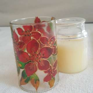 Hand painted candlepiece