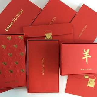 Louis Vuitton red pocket LV 利是封