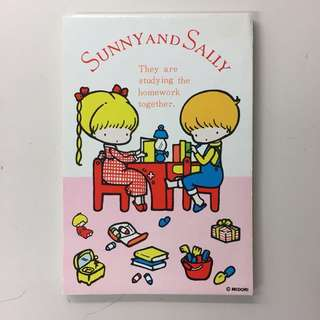 "MIDORI ""Sunny and Sally"" memo pad (made in Japan)"
