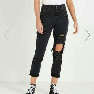 Black High Waisted Mom Jeans