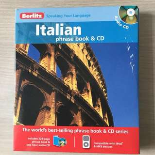 As good as new Berlitz Italian phrase bk and CD