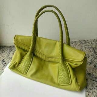 Bottega leather bag in light green