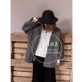 ioz 原創 日系和風oversize厚實毛衣外套
