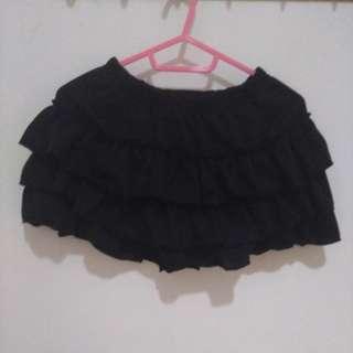 (二手)黑色蛋糕褲裙