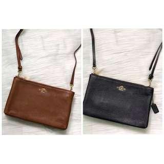 Coach double zip crossbody bag