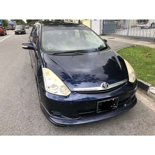 WEEKLY $410 TOYOTA WISH 1.8a for GRAB/UBER/PERSONAL USAGE