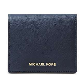 Michael Kors Jet Set Travel Carryall Card Case Admiral Navy