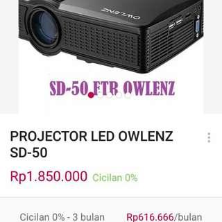 ORIGINAL OWLENZ SD50 PLUS MULTIMEDIA PORTABLE MINI LED PROJECTOR 800*400 THEATER PC,USB,HDMI,AV,VGA,SD FOR HOME CINEMA