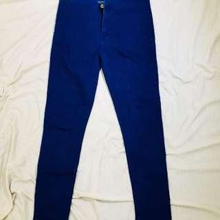 High waist boyfriend jeans (Navy blue)