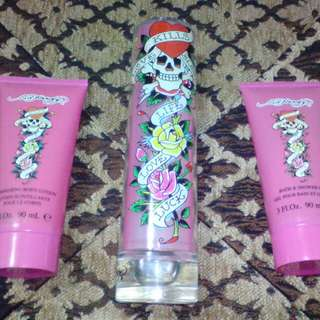 Authentic ed hardy gift set