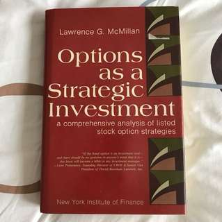Options as a Strategic Investment by Lawrence G McMillan