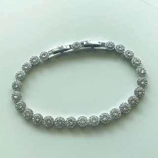 【Swarovski】Angelic Bracelet, white, rhodium plating 手鏈