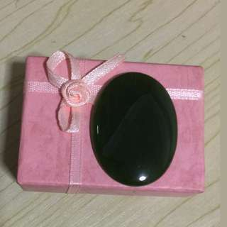A PIECE OF A HIGH GRADE LARGE DARK GREEN JADEITE CABOCHON FOR WOMEN'S JEWELRY (WOMEN'S FASHION)