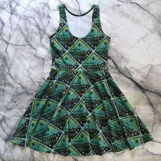 Black Milk green Harry Potter dress XS/S