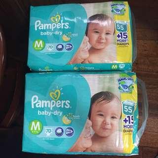 Pampers Medium (140 pcs) 2 packs