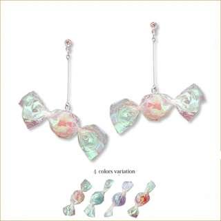 日本直送🐧彩色水果糖果 耳釘/耳夾Japan candy handmade earrings / ear clip