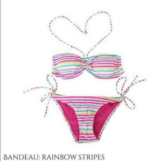 Rainbow Stripes Bikini