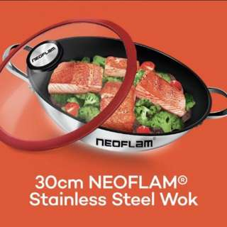 New Neoflam Stainless steel wok 30cm/12""