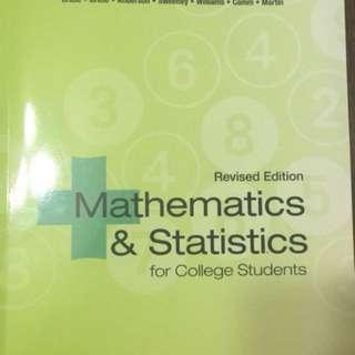 Mathematics & statistics  for College students